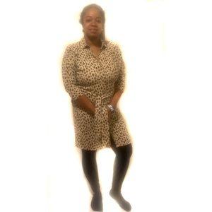 Chico's leopard print dress size 0